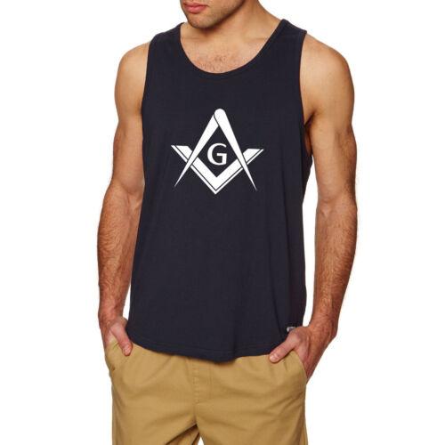 Masonic Emblems /& Symbol Workout Fitness Casual Tank Tops men shirts