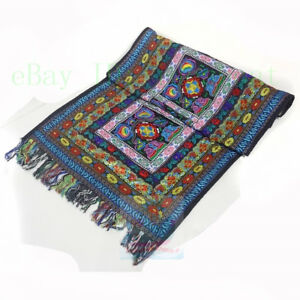 50x150cm-Cotton-Linen-blends-Table-Runner-Yi-Minority-Embroidery-Floral-design
