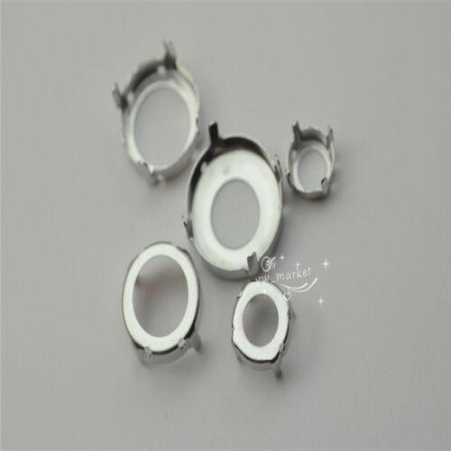 10 mm ~ 20 mm RIVOLI Verre Bijoux dans les paramètres Plus Épais Solide sew on pour Stone 100pcs