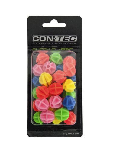 CONTEC Dutch Classic Speichenklikker//-perlen//-kugeln bunt für Kinderfahrrad