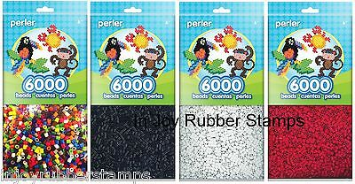 6000 Perler Fun Fusion Beads Multi-color or White Fuse Beads Great Kid's Craft