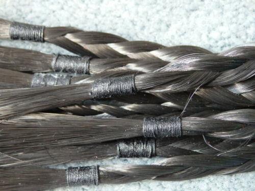 Leather LONG BRAIDED Horse Hair Flogger Horsehair Whip WHISK EQUESTRIAN GEAR