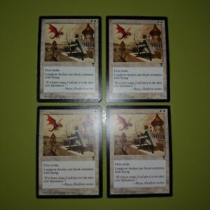 Longbow-Archer-x4-Visions-4x-Playset-Magic-the-Gathering-MTG