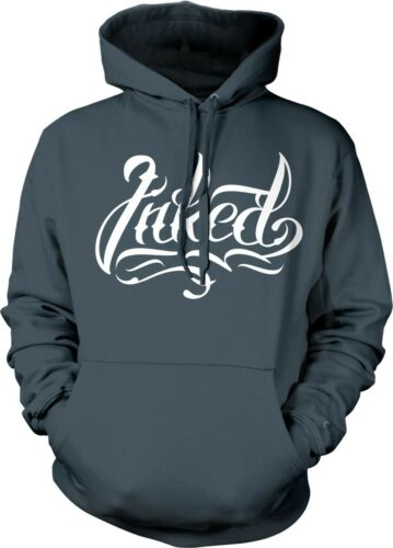 Inked Tattoos Tattooed Artist Tatted Up Hardcore Gothic Biker Hoodie Pullover