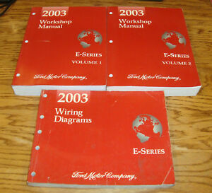 2003 Ford Econoline E-Series Van Shop Service Manual 1 & 2 ...