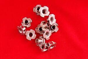 T Tee Nut 4 Four Prong 3//8-16 x 7//16 500//Pcs Plain