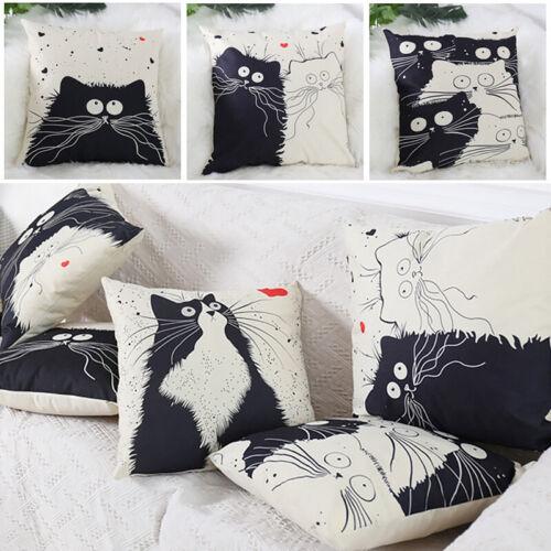 Kissenbezug Cartoon Katze Taille werfen Kissenbezug Dekokissen Kissenhülle