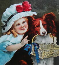 Little Girl Dog Basket