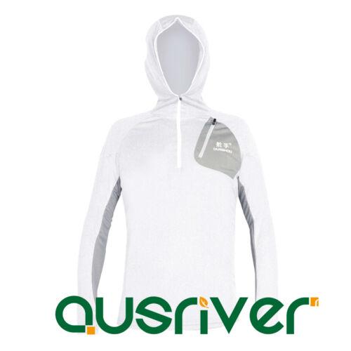 Men's Hoody Jacket Outdoor Sun Clothes Fishing Anti UV Quick Dry Longsleeve Mask