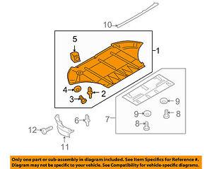 audi oem a8 quattro splash shield fr under radiator engine cover rh ebay com