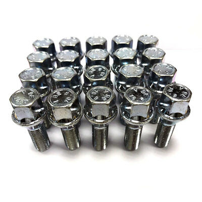 12 tornillos m14x1,5 perno de rueda 26mm llantas de aluminio 60 kegelbund ° negro y plata