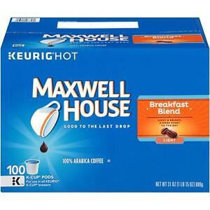 Maxwell-House-Breakfast-Blend-Coffee-100-to-200-Kcup-Pick-Any-Quantity-FREE-SHIP