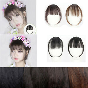 Pretty-Girls-Clip-On-Clip-In-Front-Hair-Bang-Fringe-Hair-Extension-Piece-Thin-X