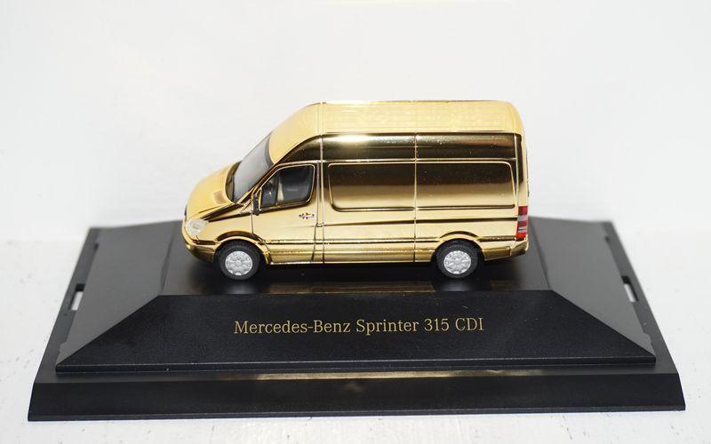 Herpa mercedes - benz sprinter dcvd sammlung nr. 13. Gold  87 in pc und ovp
