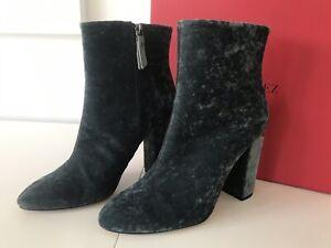37 schwarz silber Stiefeletten neu Ankle Boots kleine Glitzernieten Gr