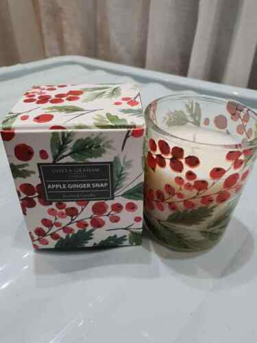 BNWT Gisela Graham Noël Apple Ginger snap Candle
