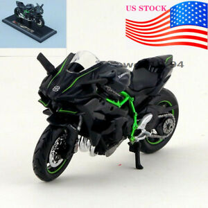 US-1-18-Scale-Maisto-Kawasaki-H2R-Motorcycle-Diecast-Model-vehicle-Toy-Gift