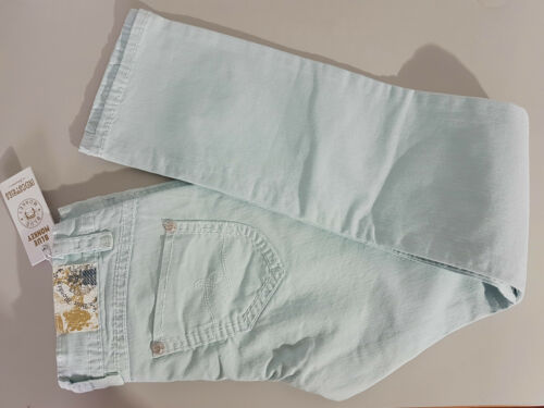 W30-36  hellblau//türkis weisse Nähte NEU BLUE MONKEY Hüft Jeans Skinny  BM5008