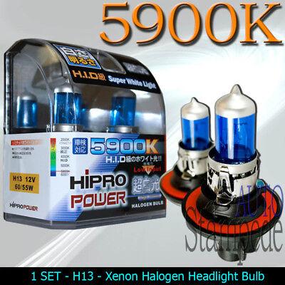 2Pcs H13 9008 5900K  55W//60W Super White HID Xenon Halogen Headlight Bulbs Lamps