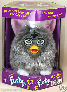 Original-Silver-Gray-Furby-1998-Tiger-Electronics-Model-70-800-New-In-Box-Sealed