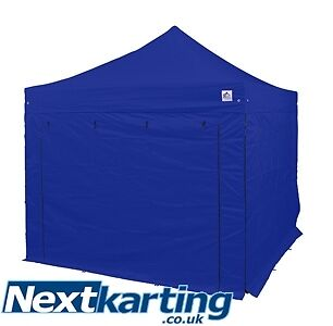 3m x 3m POP UP AWNING/GAZEBO BLUE - KART MOTOCROSS RACE SHOW RALLY BIKE !!