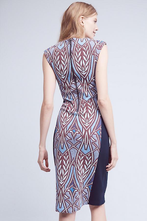 NWT Anthropologie Cleo Jacquard Jacquard Jacquard Sheath Dress HD in Paris, SP, XL, Panel Dress 58c947