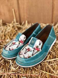 87de8a88c1b14 Ariat Women s Shimmer Turquoise Steer Skull Cruiser Shoe 10024767