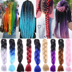 Image Is Loading 24 Inch Ombre Xpression Jumbo Kanekalo Synthetic Braiding