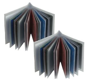 Set-of-2-Heavy-Duty-Vinyl-12-Pages-Insert-for-Bifold-Trifold-Wallet-MADE-IN-USA