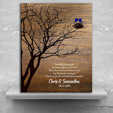 (LT-1368) Personalized 5th Anniversary Personalized Family Wedding Tree Gift ...