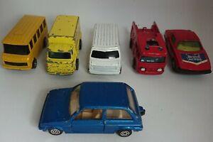 5-x-VINTAGE-CORGI-JUNIORS-JOB-LOTTO-DIE-CAST-Veicoli-Auto-Van-Bus-amp-MINI-METRO