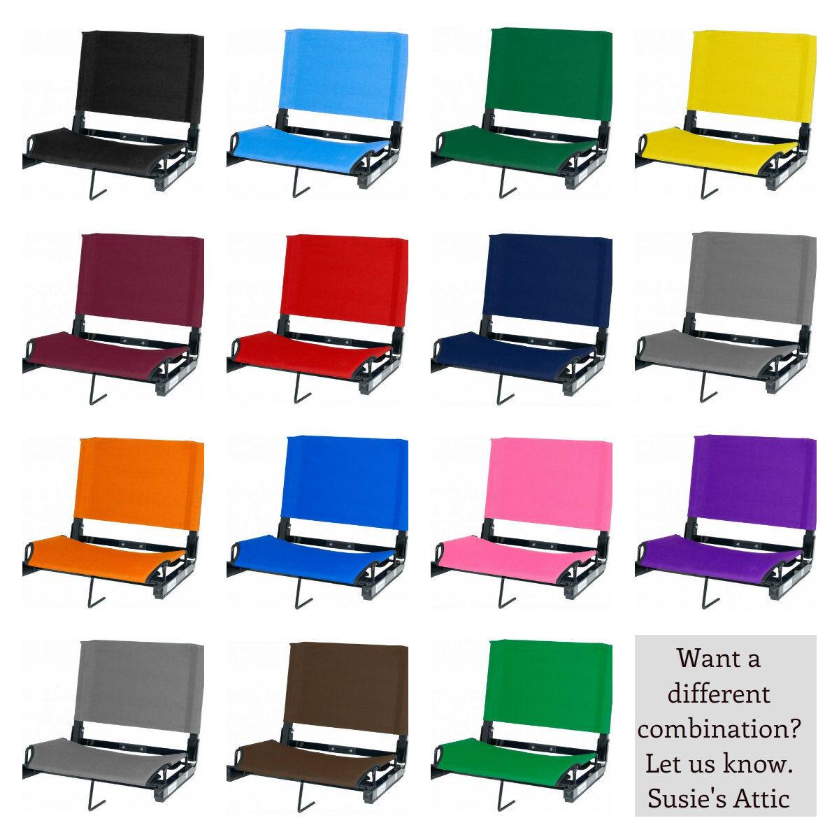 Bleacher Seats With Backs Stadium Chair Cushion Deluxe 17 Wide sport HD Var