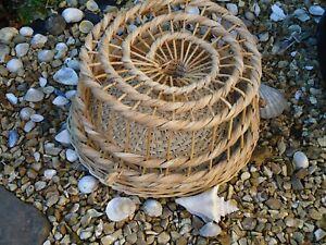 Lobster-pot-320-mm-Traditional-Wicker-Style-Fishing-Boat-Net-Garden-Gift-M