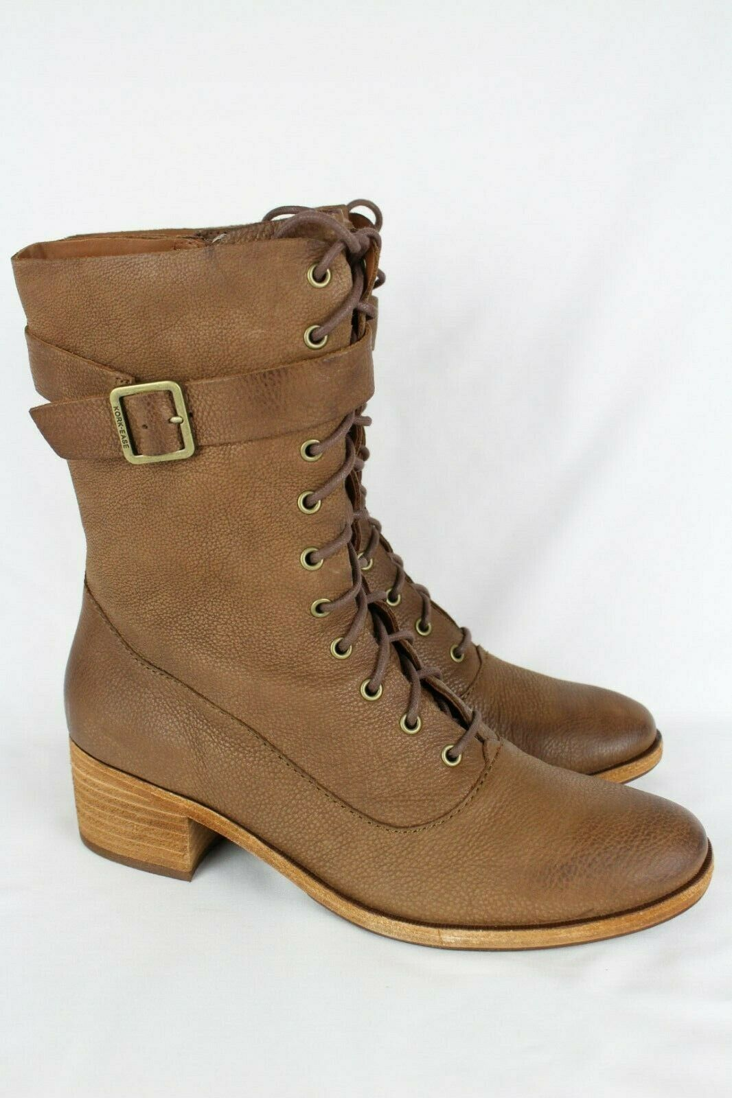 New Kork Ease Women's Mona Lace Up Boots Size 9.5 Brown Aztec K57806