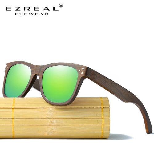EZREAL Real Wood Sunglasses Polarized Wooden Glasses UV400 Bamboo Sunglasses ...