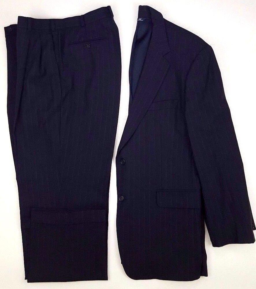 Brooks Brothers Suit 42r Blau Nadelstreifen Herren 2 Knöpfen Größe Wollmischung     Fairer Preis    Sonderaktionen zum Jahresende    Qualifizierte Herstellung
