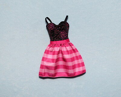 SASSY Hot Pink /& Shiny Black Bunched Sleeveless Genuine BARBIE Party Shirt Top