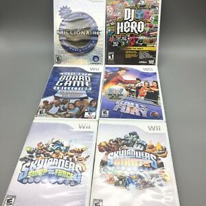 Nintendo-Wii-Games-CDs-Lot-Of-6-Fast-Free-Shipping-C10