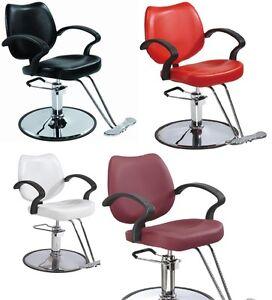 Black Red White Burgundy Classic Hydraulic Barber Chair