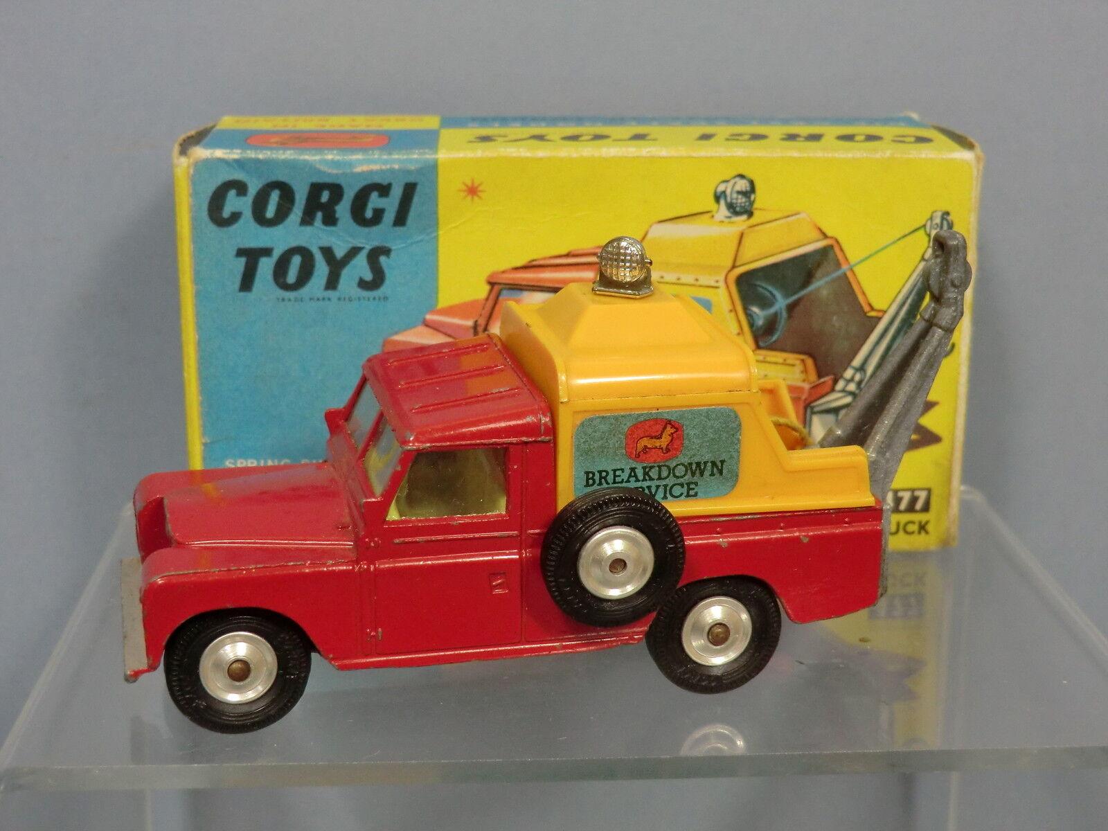 Vintage Corgi modelno 477 Land-Rover ruptura camión VN MIB