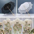 Black White Lace Pure Cotton Flower Embroidery Wedding Umbrella Bridal Parasol