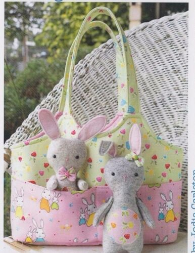 Bag O/' Bunnies PATTERN Ric Rac sweet bag and softie toy PATTERN