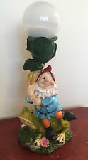 Solar Powered Garden Gnome Light Flowerbed Patio Small Statue Frog (No. 2)