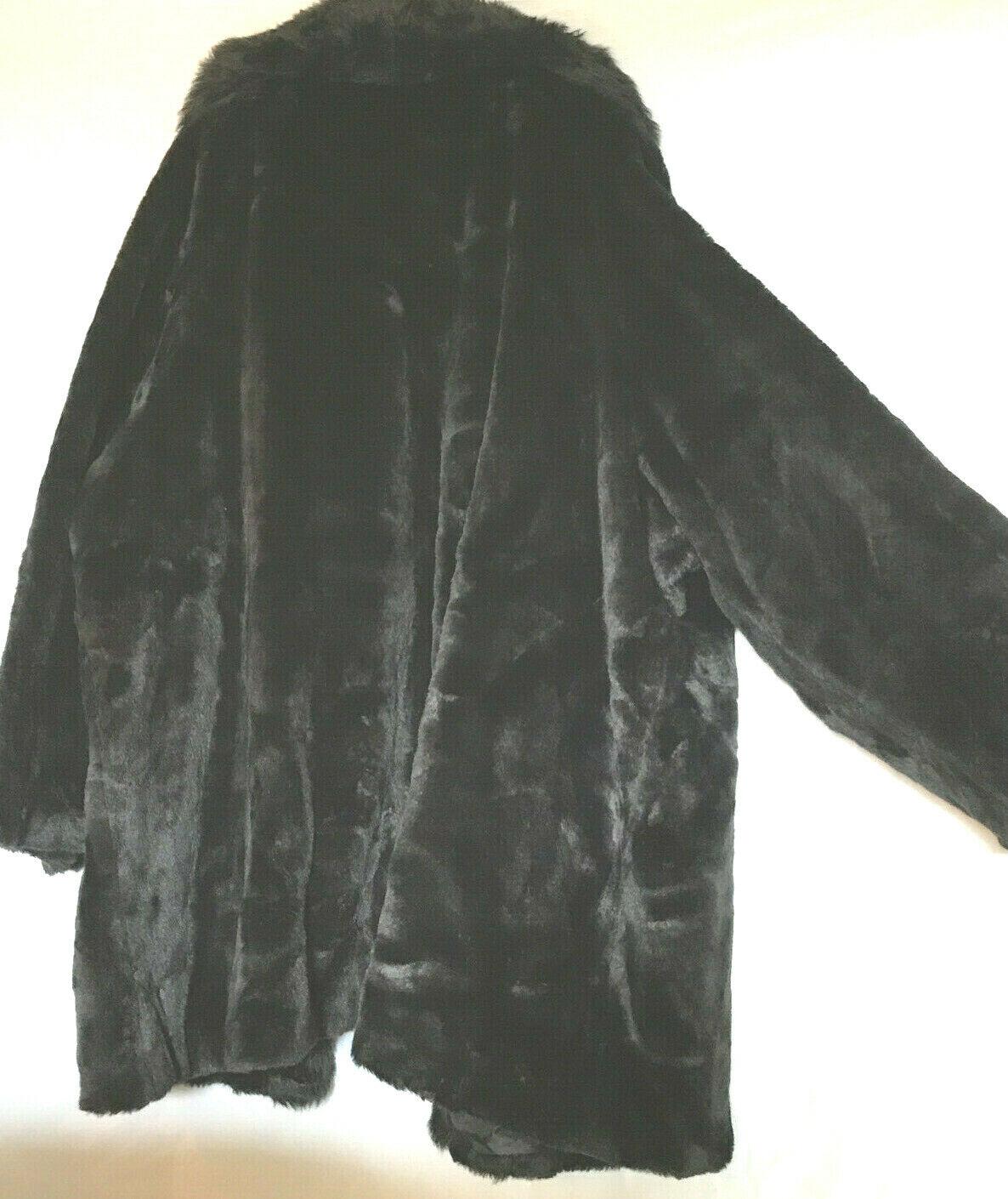 4x Woman Within Faux Fur, schwarz, Very Shiny