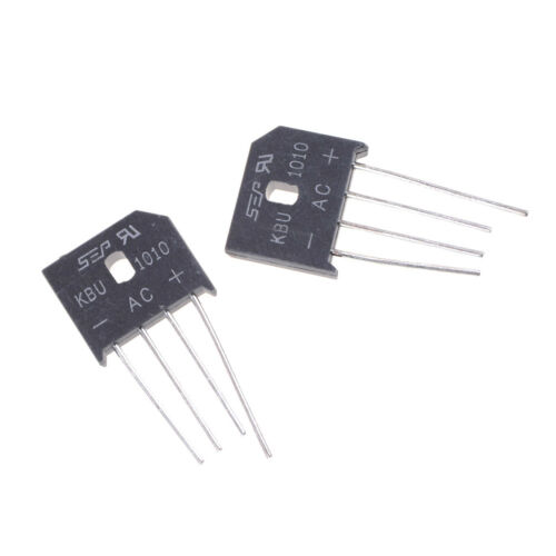 2PCS KBU1010 10A 1000V Single Phases Diode Bridge Rectifier  uq