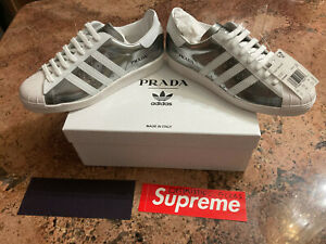 Details about ADIDAS X PRADA SUPERSTAR METALLIC/SILVER LIMITED EDITION Size US 10