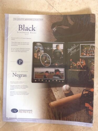 CREATIVE MEMORIES REFILL PAGES BLACK 12 X 15  NIP