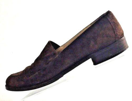Salvatore en 5aa marrón 7 zapatos mujer Ferragamo Italia de gamuza talla fabricados para 71Yrnw1qC