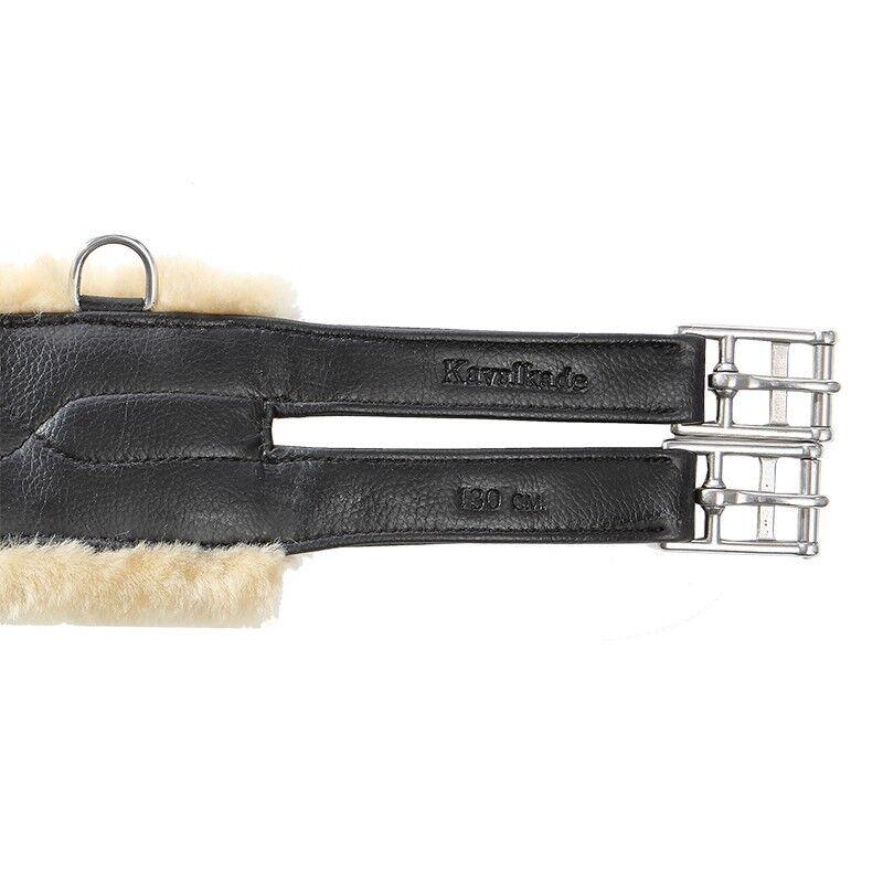 Circunferencia Larga Cuero Artificial Kavalkade con lana de cordero médica-Negro o Marrón