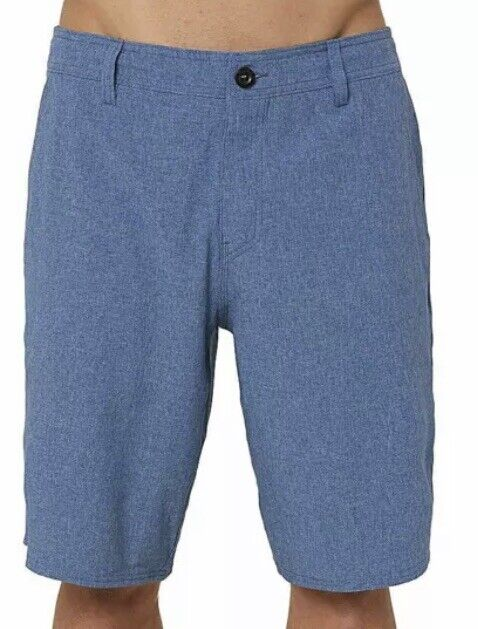 O'Neill Mens Reserve Heather Board Shorts Stretch Size 29 bluee NBB